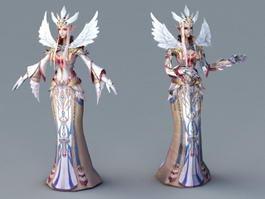 Female Elf Priest Dancing 3d preview