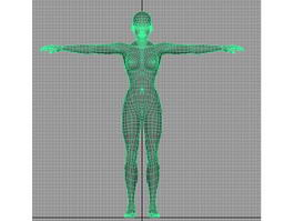 Female Body Base 3d preview