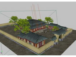 Traditional Chinese Courtyard House 3d preview