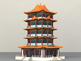 Ancient Chinese Pagoda 3d model preview