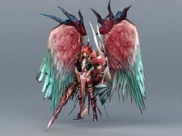Male Angel Warrior 3d model preview