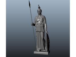 Athena Greek Goddess Statue 3d preview