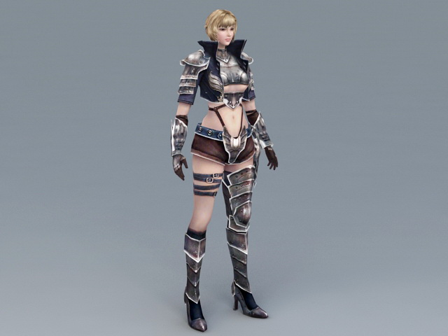 Sexy Medieval Warrior Women 3d rendering