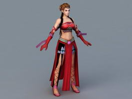 Ancient Chinese Dancer 3d preview