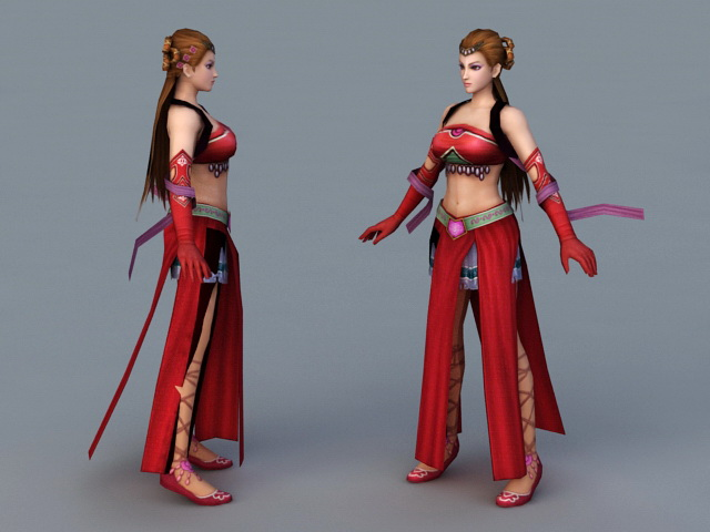 Ancient Chinese Dancer 3d rendering