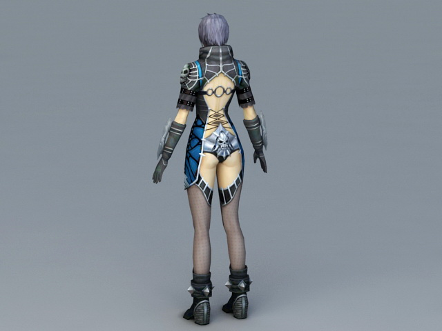 Medieval Warrior Princess 3d rendering