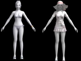 Sexy Girl Swimsuit 3d preview