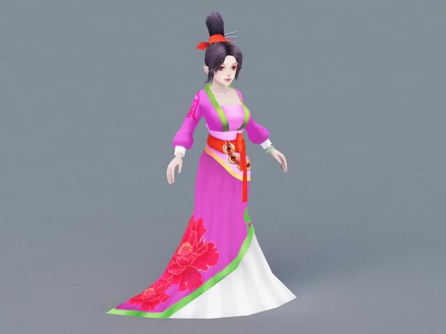 Ancient Woman Dancer 3d rendering