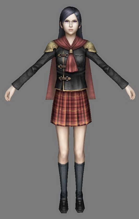 Chinese Female Fighter Girl 3d model 3ds Max files free