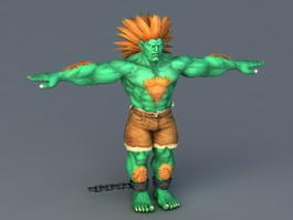Street Fighter Blanka 3d preview