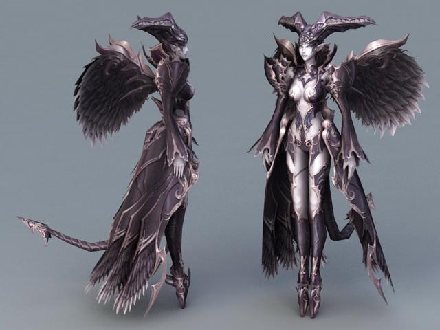 Fallen Angel Devil 3d rendering