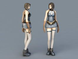 Woman Fighter 3d model preview