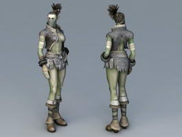 Female Half-Orc 3d preview