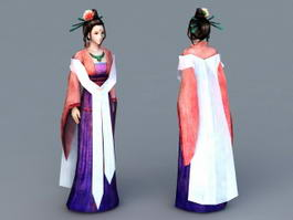 Chinese Noble Lady 3d model preview