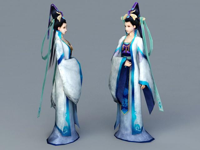 Chinese Myths Goddess 3d rendering