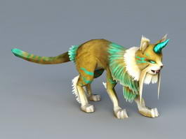 Anime Cat Beast 3d preview
