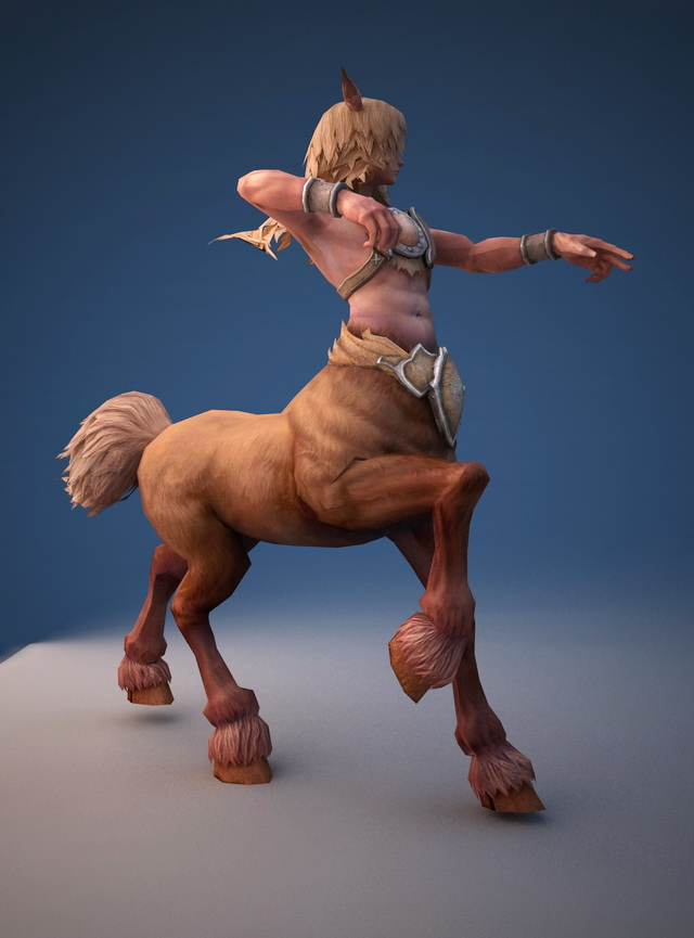 Male Centaur Rigged 3d rendering