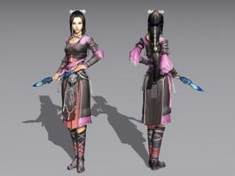 Chinese Female Martial Artist 3d preview