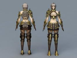 Beautiful Female Mage 3d preview
