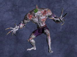 Batman Arkham Asylum Titan Joker 3d preview