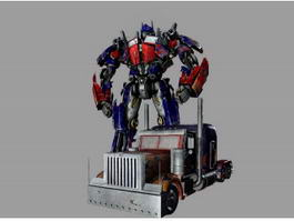 Transformers Optimus Prime 3d preview