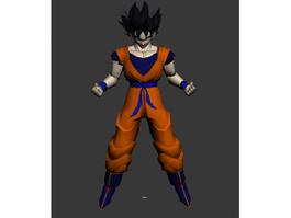 Super Vegeta Dragon Ball Goku Split Animated 3d preview
