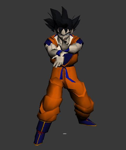 Super Vegeta Dragon Ball Goku Split Animated 3d rendering