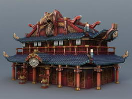 Chinese Ancestral Temple 3d preview