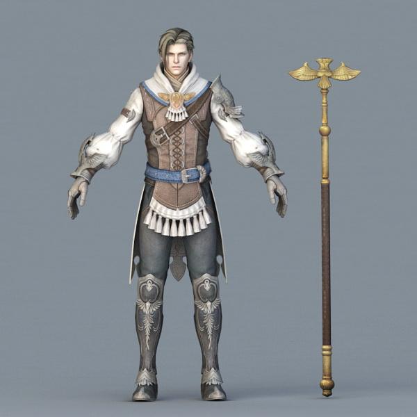 Male Wizard Concept Art 3d rendering