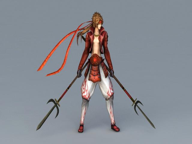 Samurai Warrior 3d rendering