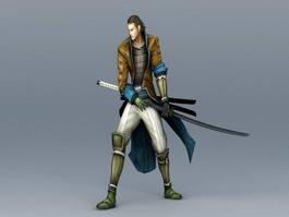 Samurai Warrior Character 3d preview