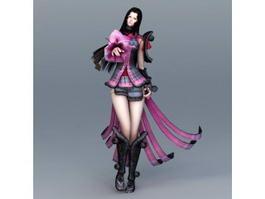 Female Samurai 3d preview