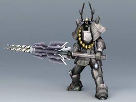 Robot Samurai Concept Art 3d preview