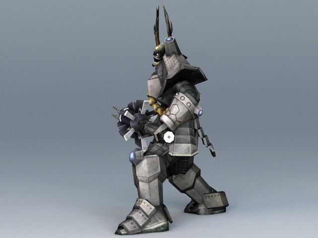 Robot Samurai Concept Art 3d rendering