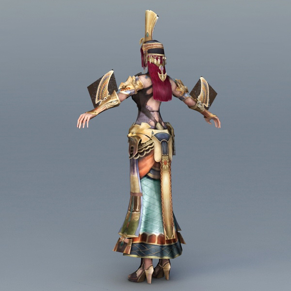 Sexy Ancient Egyptian Woman 3d rendering