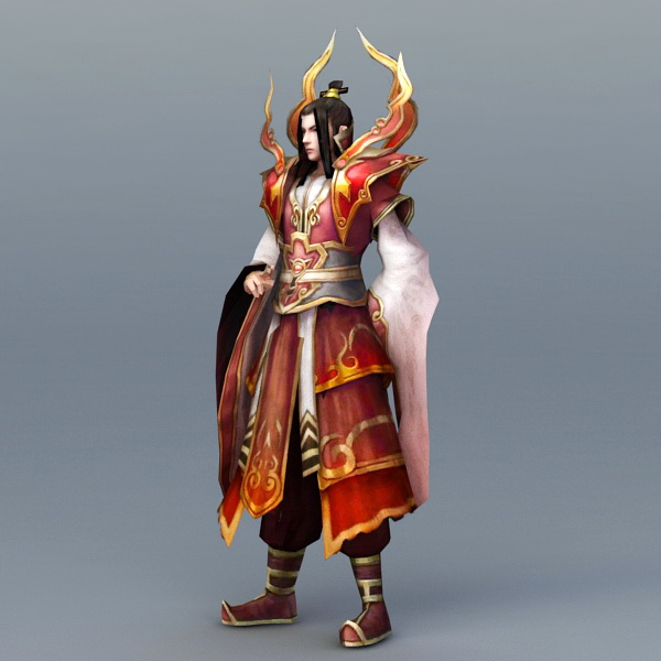 Male Battle Mage 3d rendering