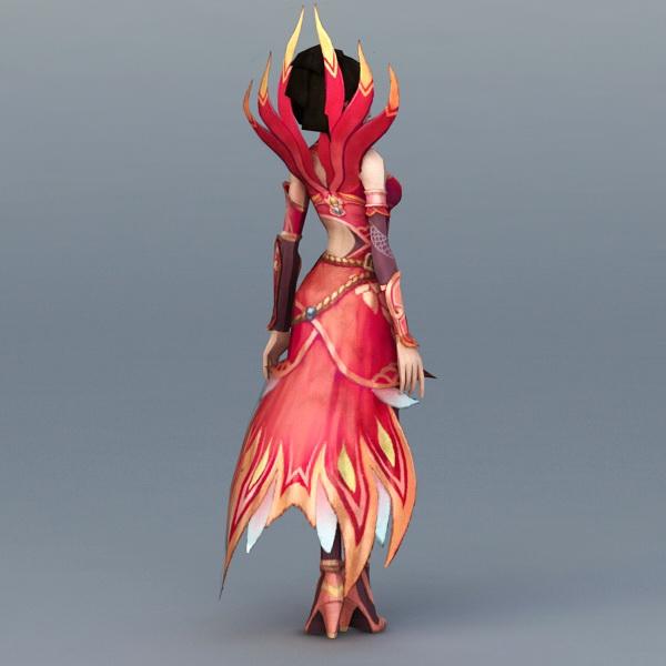 Female Fire Sorceress 3d rendering