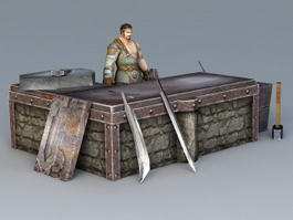 Middle Ages Blacksmith 3d preview