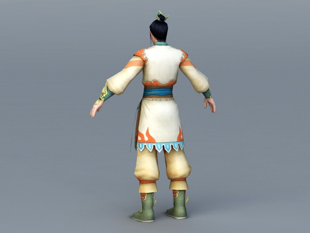 Chinese Royal Prince 3d rendering