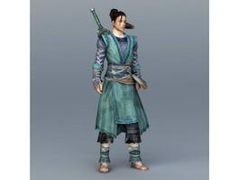 Chinese Swordsman Concept Art 3d preview