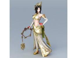 Asian Warrior Woman 3d model preview