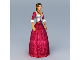 17th Century American Woman 3d preview