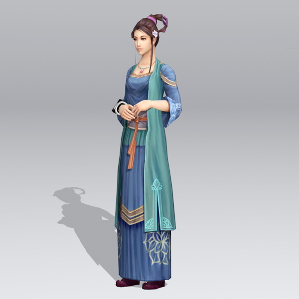 Ancient Chinese Noble Lady 3d rendering