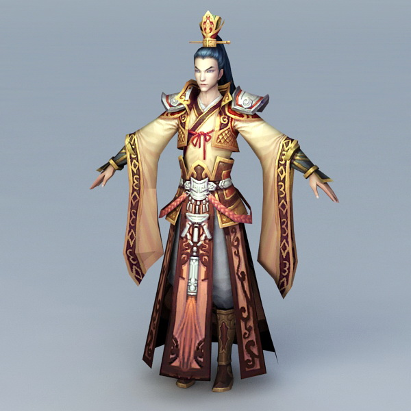 Chinese Imperial Prince 3d rendering