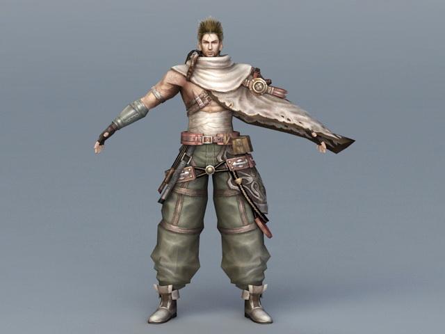 Medieval Mercenary 3d rendering