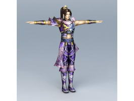 Asian Man Martial Artist 3d model preview
