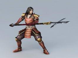 Japanese Samurai Warrior 3d preview