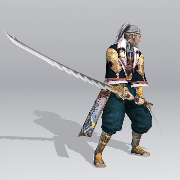 Old Japanese Samurai 3d rendering