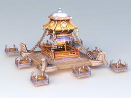 Fantastic Sacrificial Altar Tower 3d preview