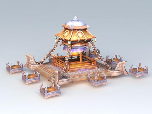 Fantastic Sacrificial Altar Tower 3d rendering